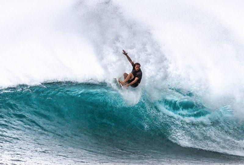 Gareth Budge, surfing, swox sunscreen, Indonesia